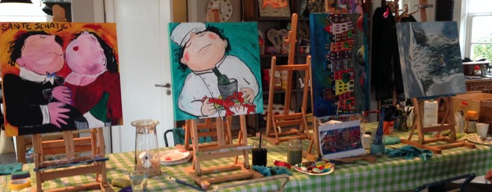schilderworkshop-woerden-teamuitje