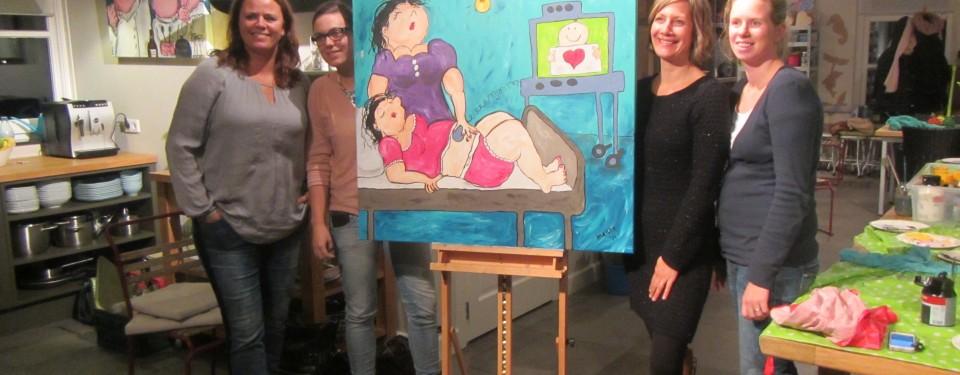 banner-ell-is-workshop-schilderen-bedrijfsuitje