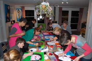 Workshop Schilderen bij ell-is in Woerden